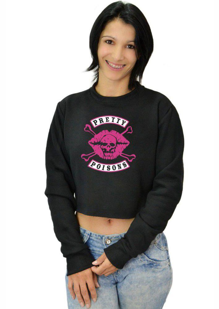Moletom Cropped Feminino Riverdale Pretty Poisons ER_137