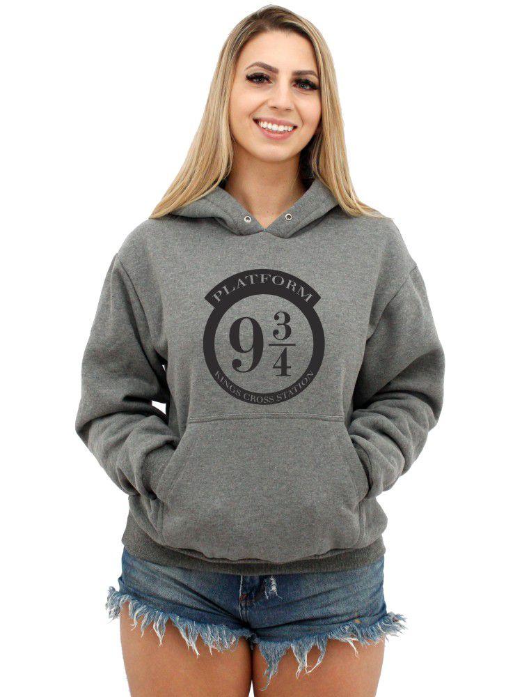 Moletom Feminino Canguru Premium Harry Potter Plataforma 9 3/4 ER_134