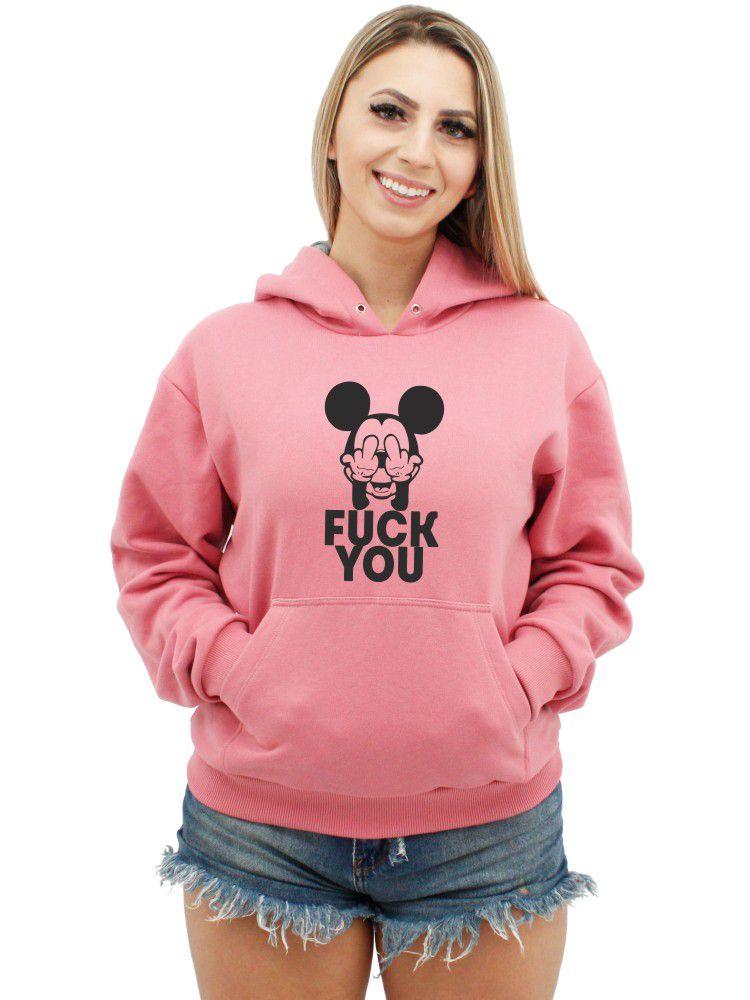 Moletom Feminino Canguru Premium Mickey Fuck You ER_088