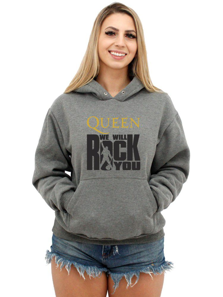 Moletom Feminino Canguru Premium Queen We Will Rock You ER_078