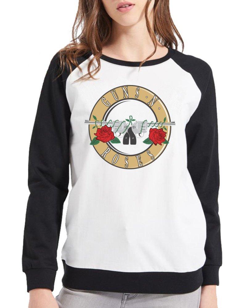 Moletom Raglan Feminino Guns n' Roses Logo ES_011