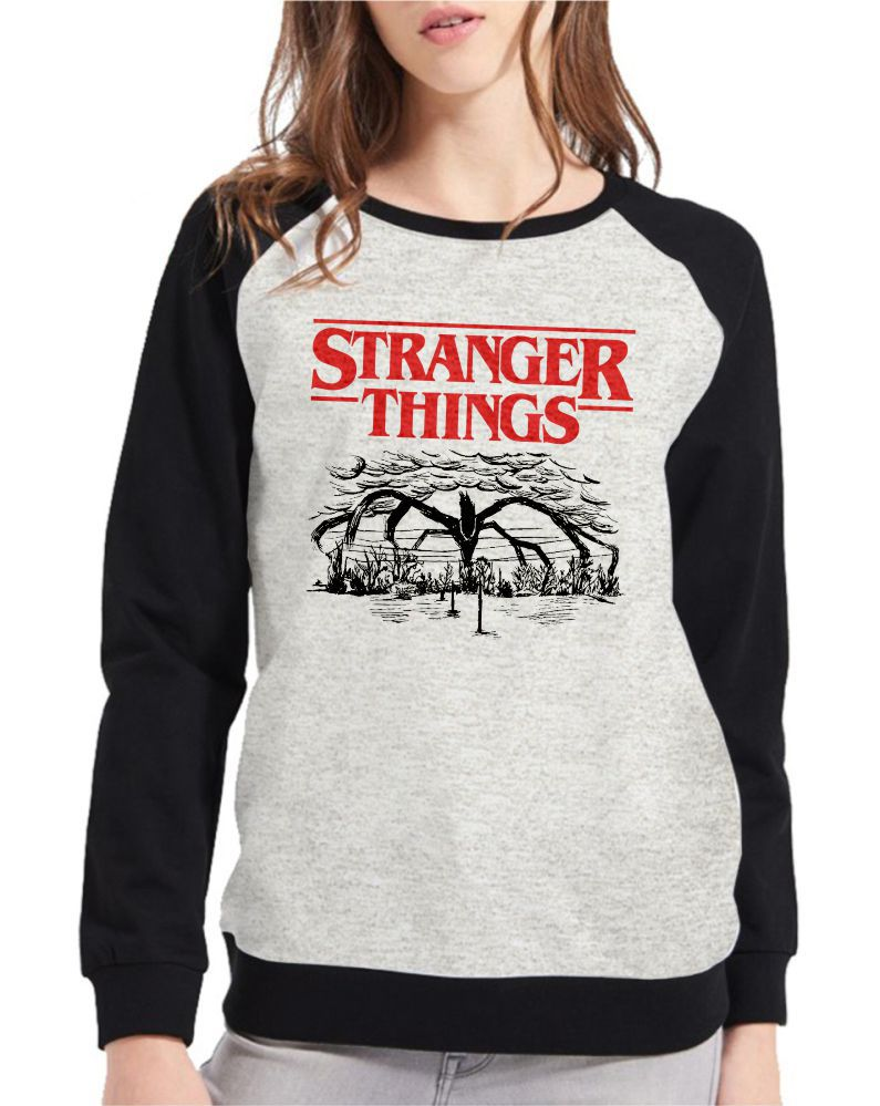 Moletom Raglan Feminino Mescla Stranger Things 4 Temporada ES_209