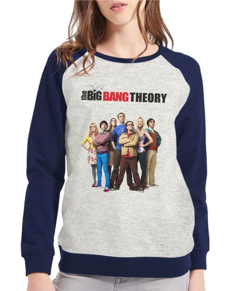 Moletom Raglan Feminino Mescla The Big Bang Theory ES_129