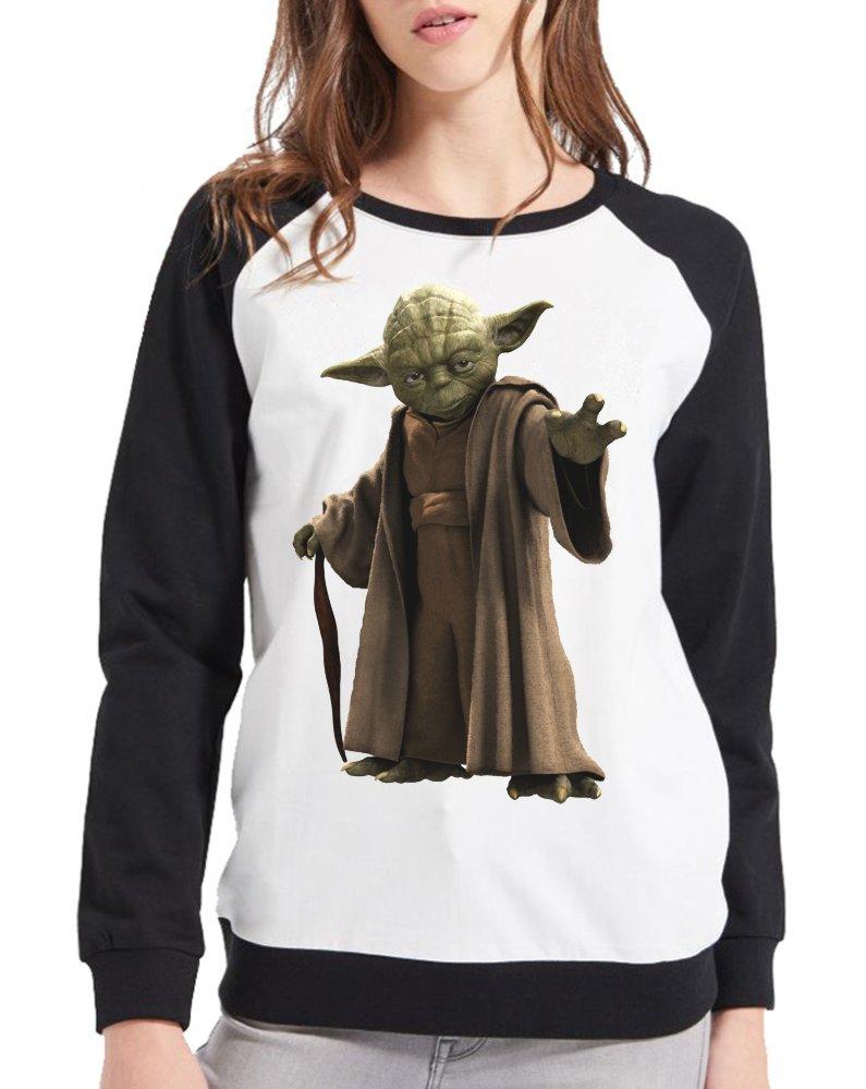 Moletom Raglan Feminino Star Wars - Mestre Yoda ES_077