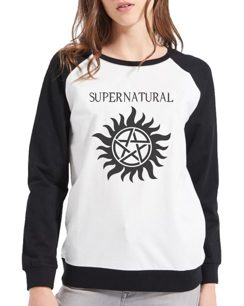 Moletom Raglan Feminino Supernatural - Anti Possessão ES_093