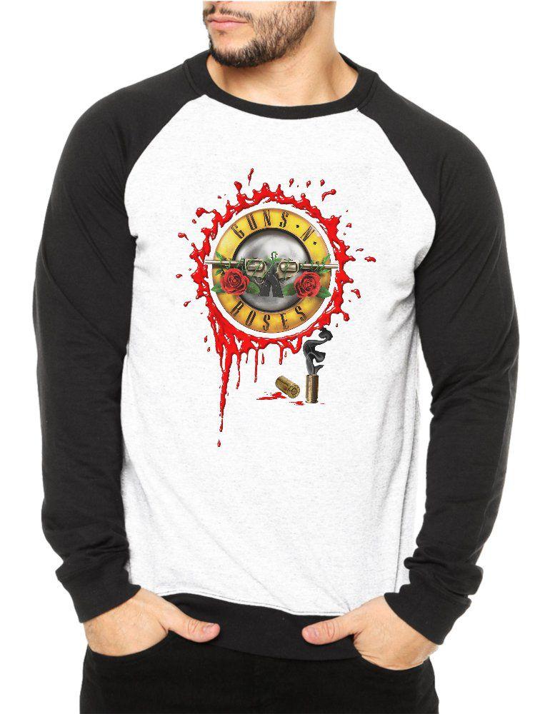 Moletom Raglan Masculino Guns N' Roses Bullet Logo ES_112