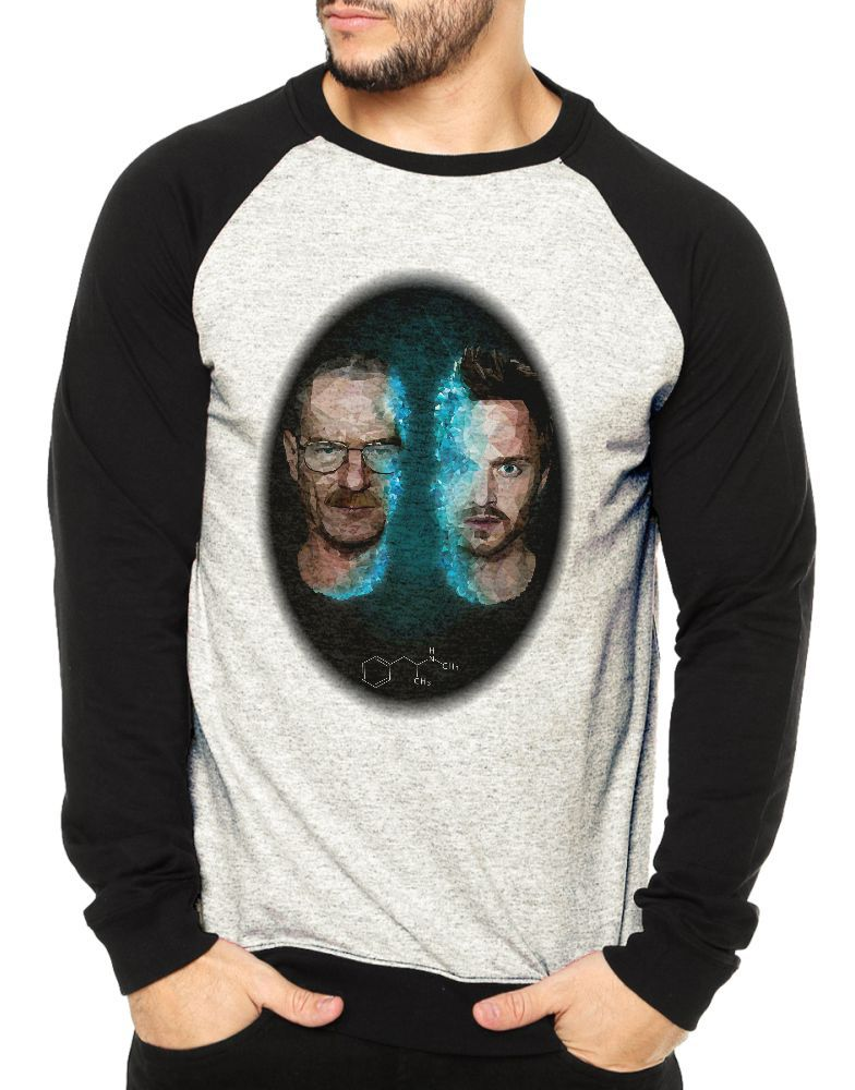 Moletom Raglan Masculino Mescla Breaking Bad ES_126