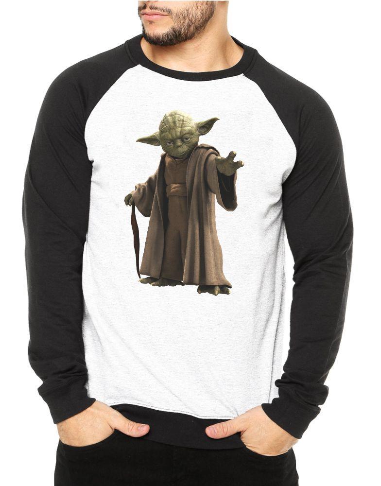 Moletom Raglan Masculino Star Wars Mestre Yoda ES_077