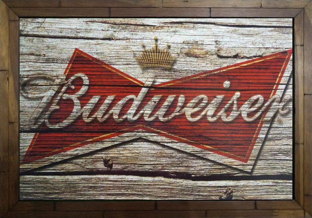 Quadro Decorativo Cerveja Budweiser MDF 50 x 35 B088