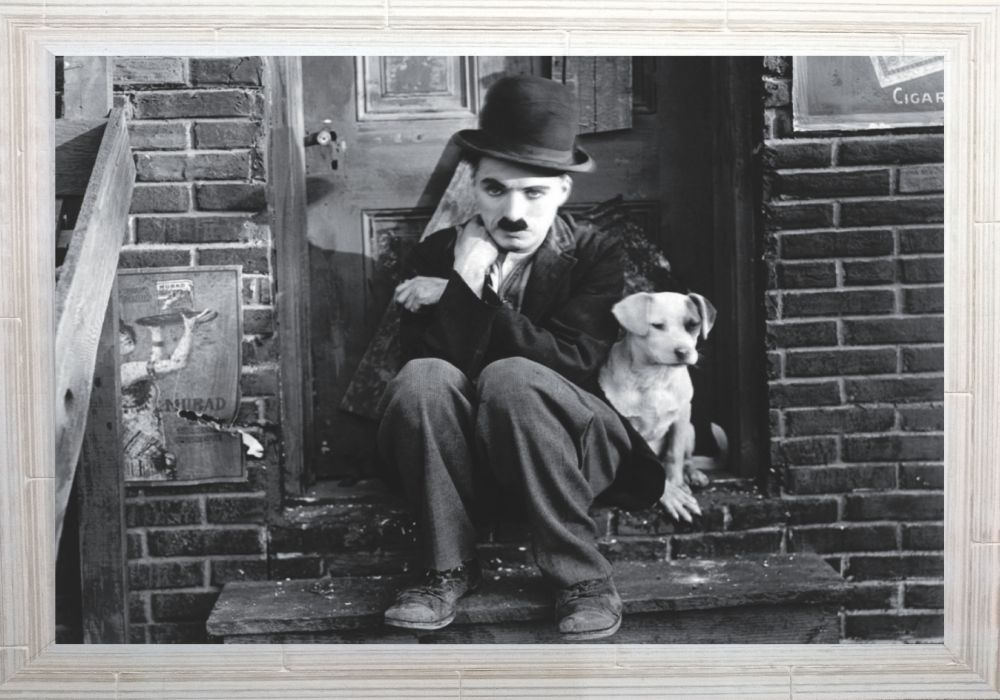 Quadro Decorativo Charles Chaplin MDF 50 x 35 M024
