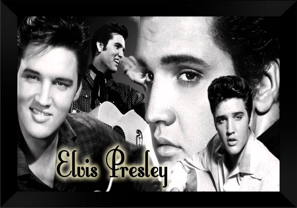 Quadro Decorativo Elvis Presley MDF 50 x 35 M037