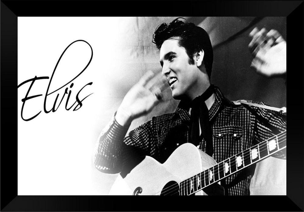 Quadro Decorativo Elvis Presley MDF 50 x 35 M038