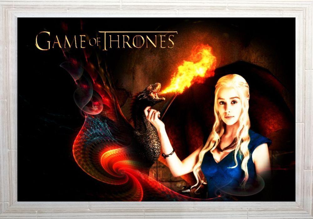 Quadro Decorativo Game of Thrones MDF 50 x 35 S003