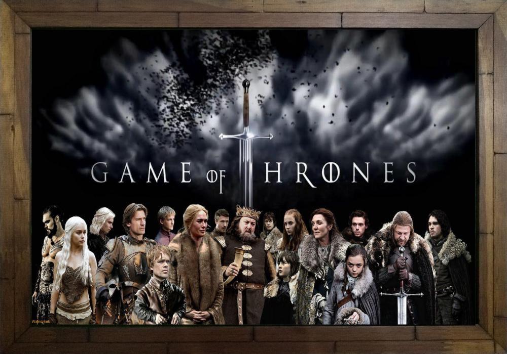 Quadro Decorativo Game of Thrones MDF 50 x 35 S005