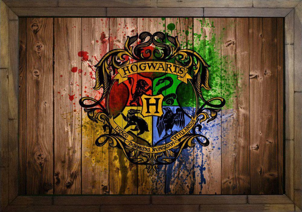 Quadro Decorativo Harry Potter Hogwarts MDF 50 x 35 S045