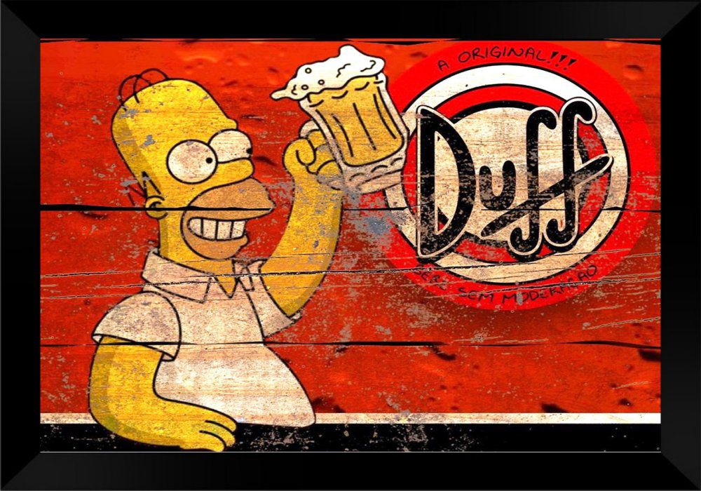 Quadro Decorativo Hommer Duff MDF 50 x 35 B098