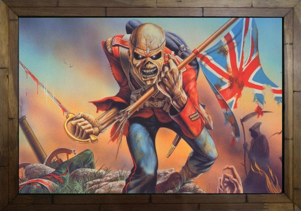 Quadro Decorativo Iron Maiden - The Trooper MDF 50 x 35 M011