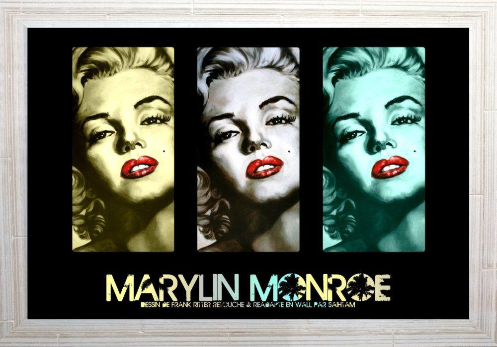 Quadro Decorativo Marilyn Monroe MDF 50 x 35 M063