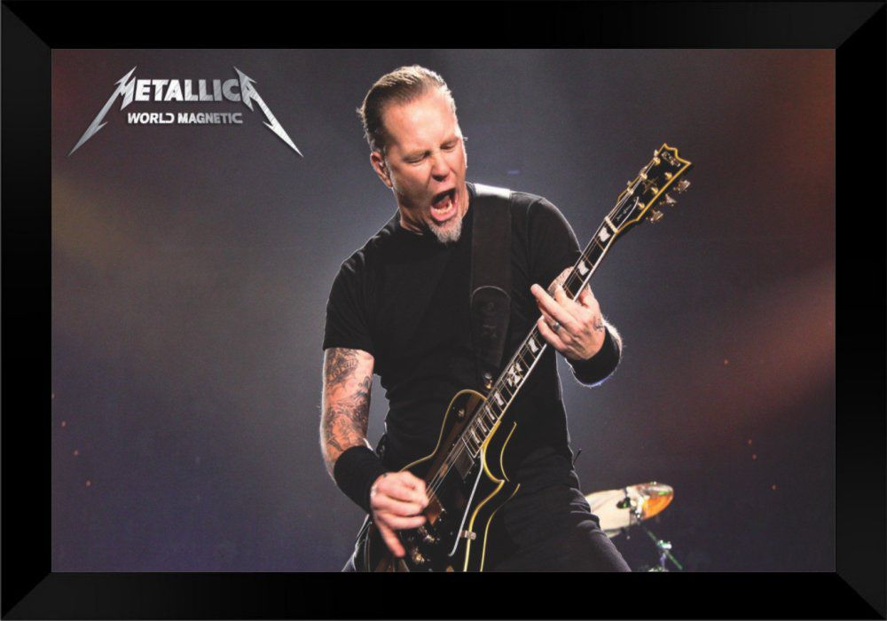 Quadro Decorativo Metallica World Magnetic MDF 50 x 35 M002
