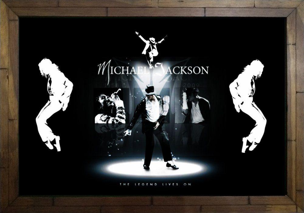 Quadro Decorativo Michael Jackson MDF 50 x 35 M040