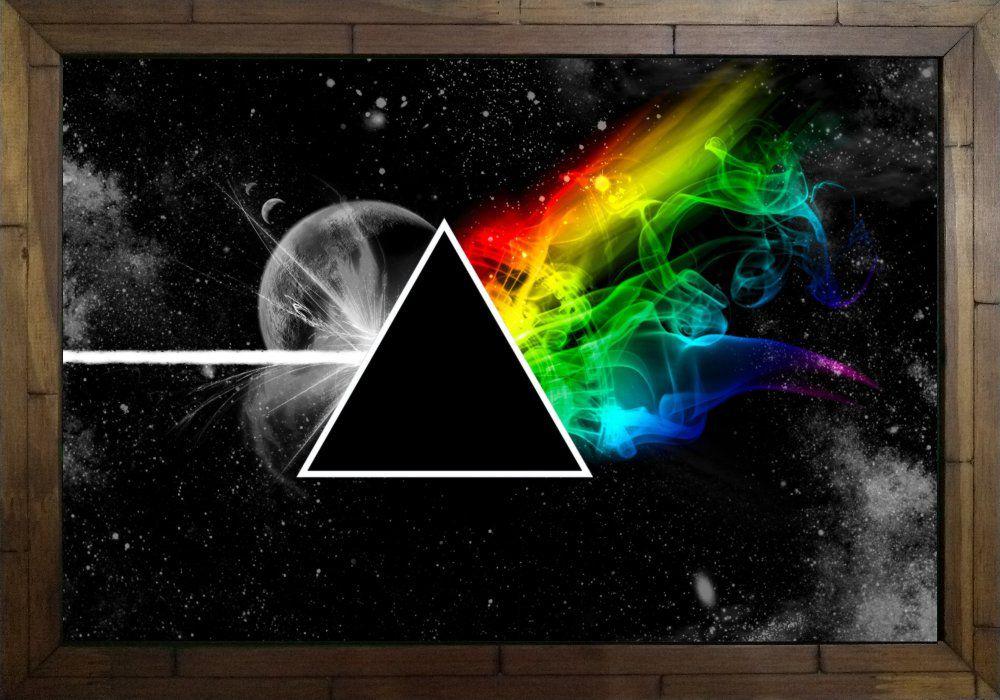 Quadro Decorativo Pink Floyd The Dark Side of the Moon MDF 50 x 35 M060
