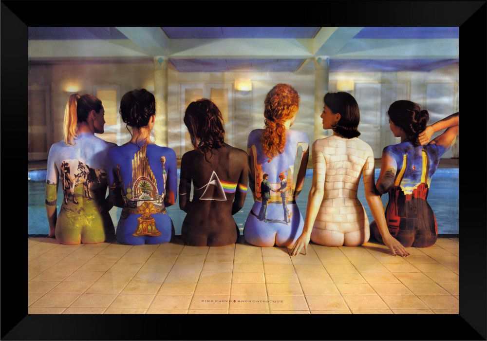 Quadro Decorativo Pink Floyd Women Back MDF 50 x 35 M056