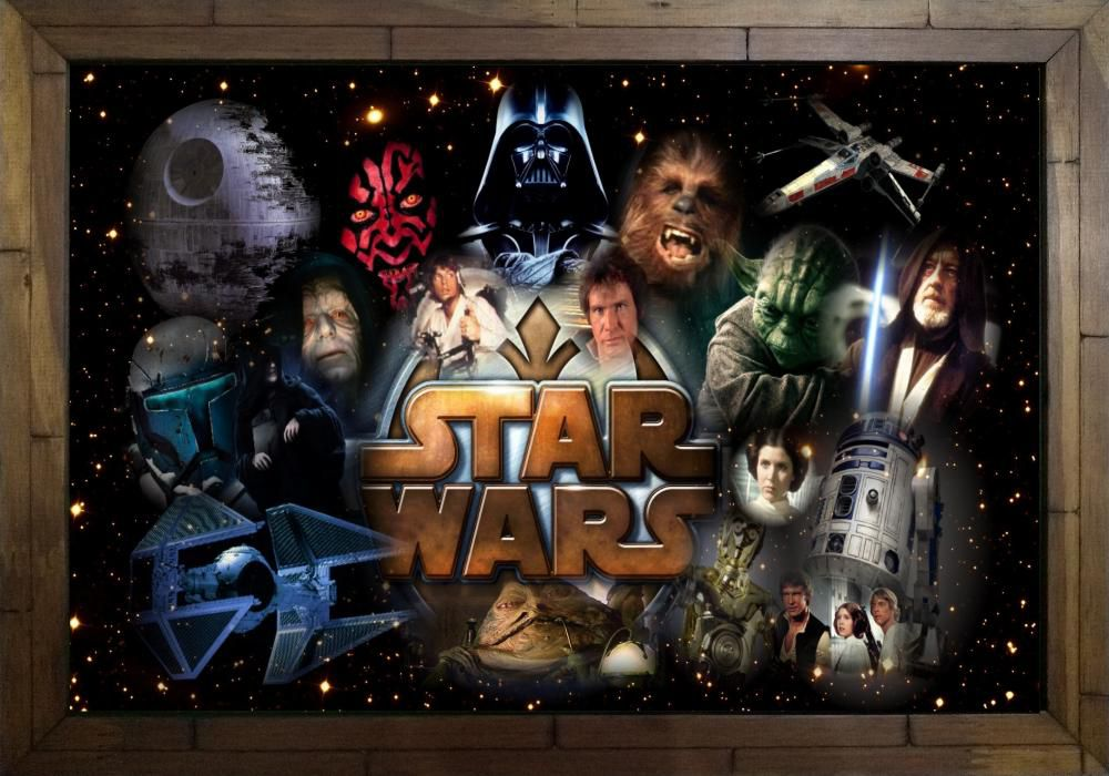 Quadro Decorativo Star Wars MDF 50 x 35 S016