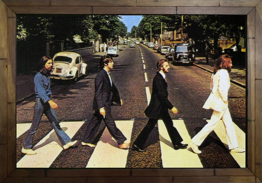 Quadro Decorativo The Beatles MDF 50 x 35 M033