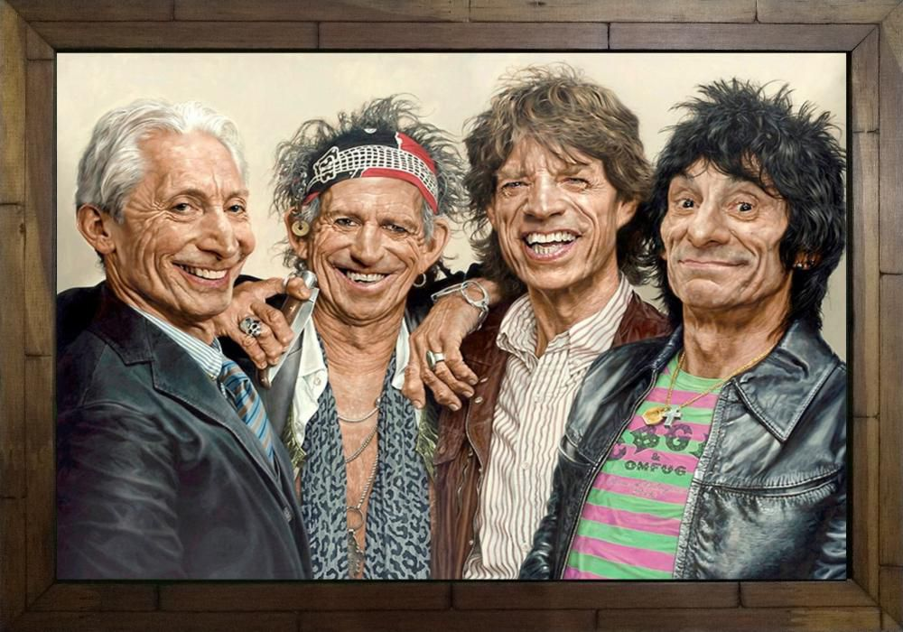 Quadro Decorativo The Rolling Stones MDF 50 x 35 M032