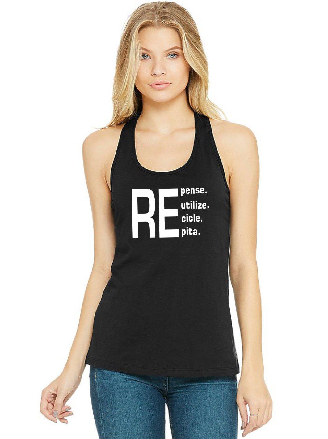 Regata Feminina Algodão Repense Reutilize Recicle Repita ER_170