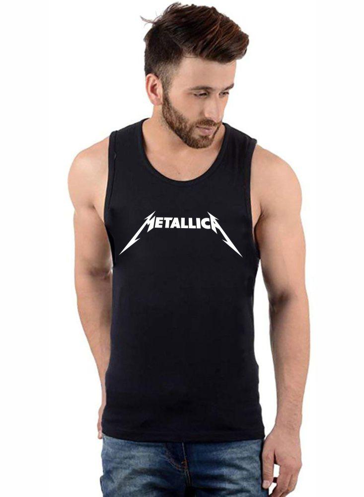 Regata Masculina Algodão Metallica Logo ER_022