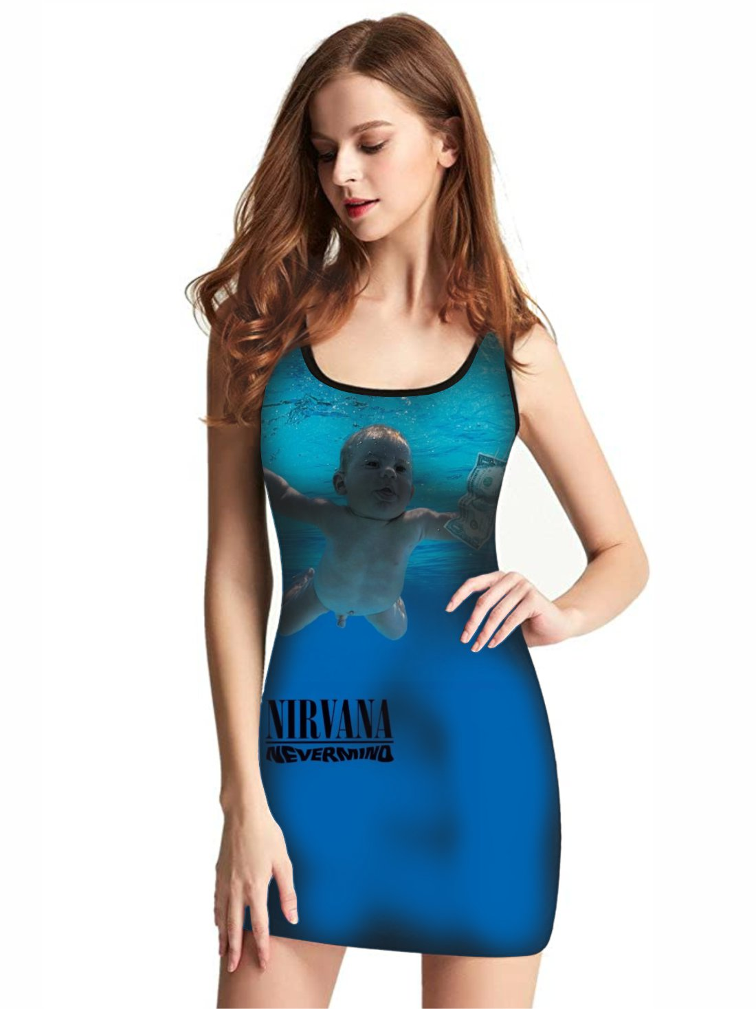 Vestido Feminino Full Printed Banda Nirvana Nevermind FP_025