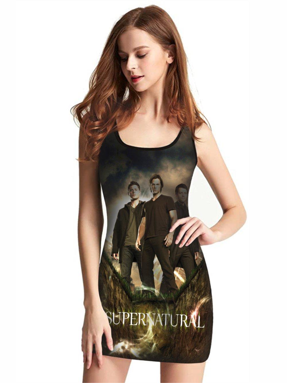 Vestido Feminino Full Printed Série Supernatural FP_035