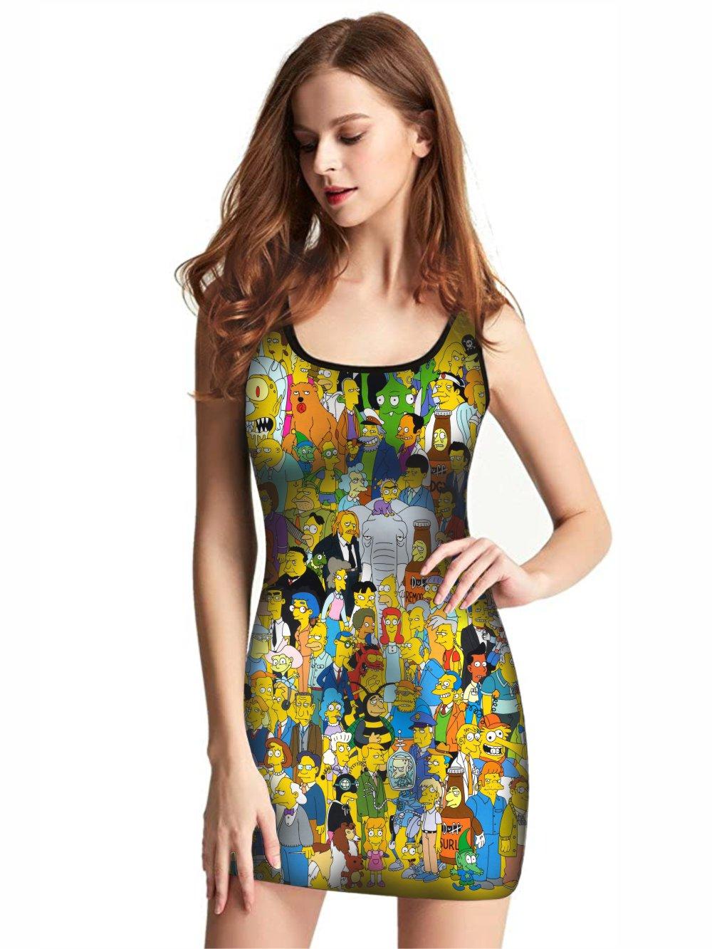 Vestido Feminino Full Printed The Simpsons FP_023