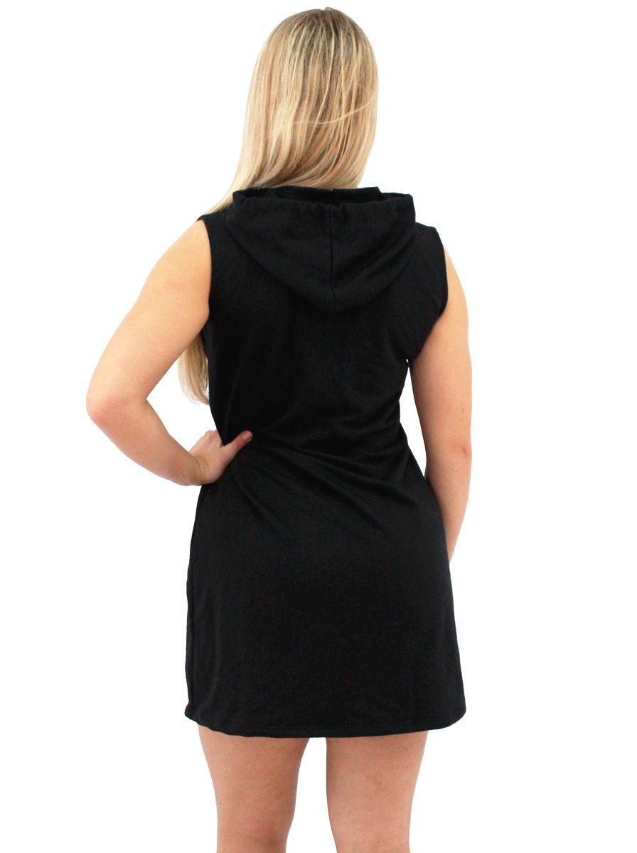 Vestido Moletom Canguru Feminino AC DC Back In Black ER_154