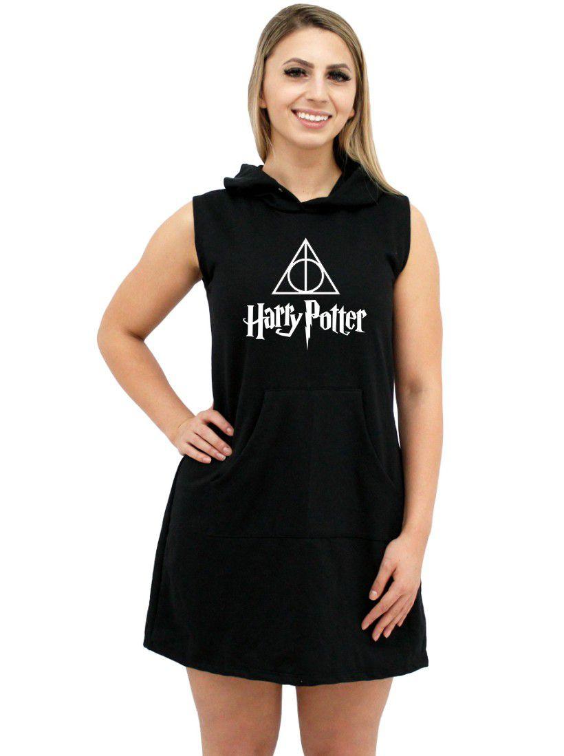 Vestido Moletom Canguru Feminino Harry Potter ER_038