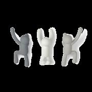Cabideiro / Ganchos de Parede Buddy (3 un) Cinza - Umbra