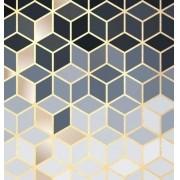 Quadro Geométrico grey gold