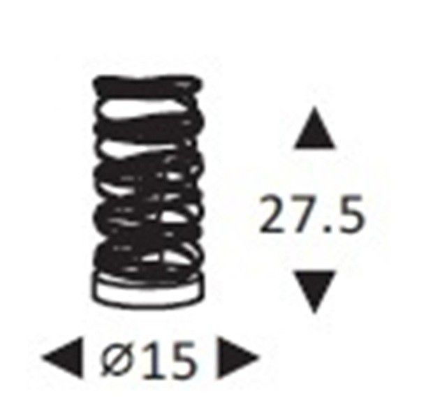 Abajur Aramado de mesa Espiral Ref: Lt-357-Aj - Luxtek