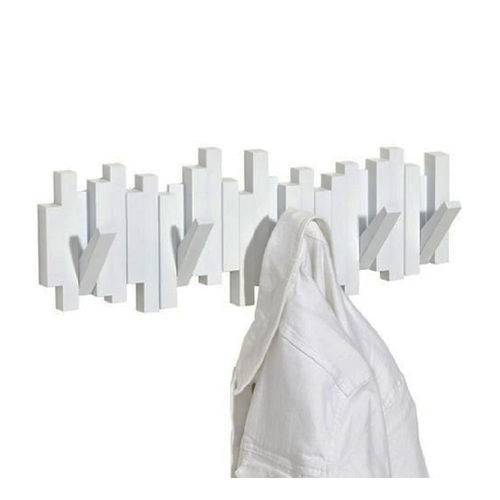 Cabideiro / Cabide de Parede 5 Ganchos Sticks Branco  - UMBRA