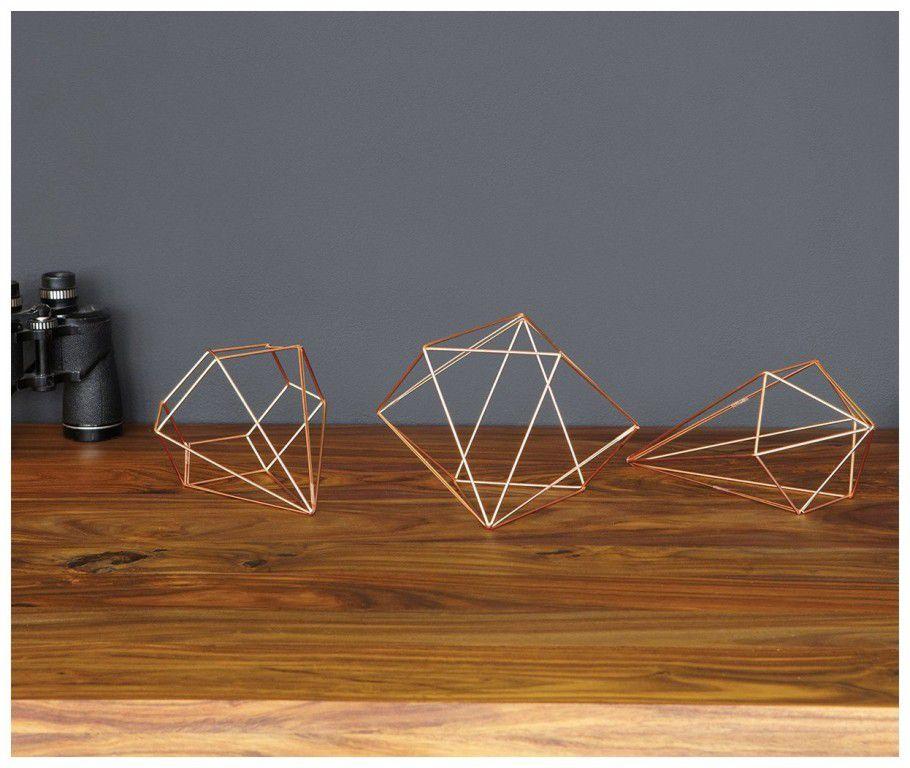 Conjunto de decoração Prisma Cobre - Umbra