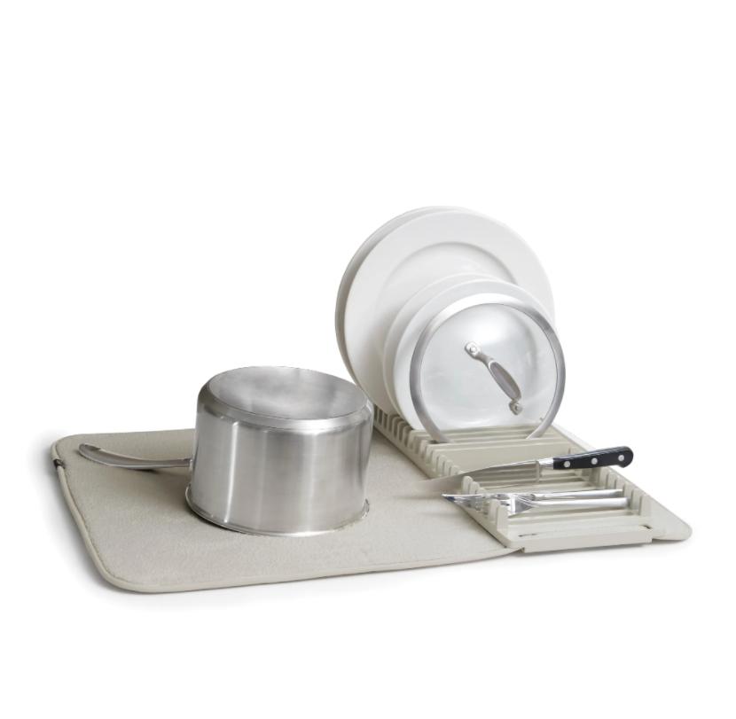 Escorredor e Secador de pratos Udry Cinza Claro - Umbra