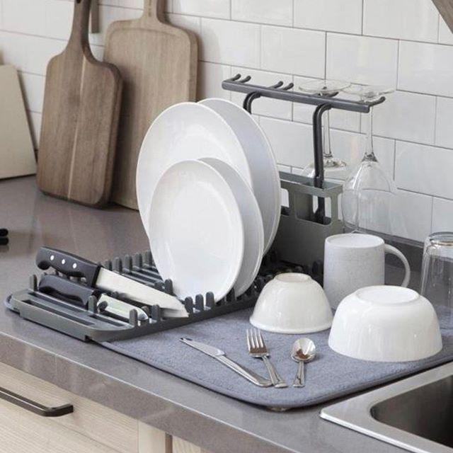 Escorredor e Secador de pratos Udry Cinza - Umbra