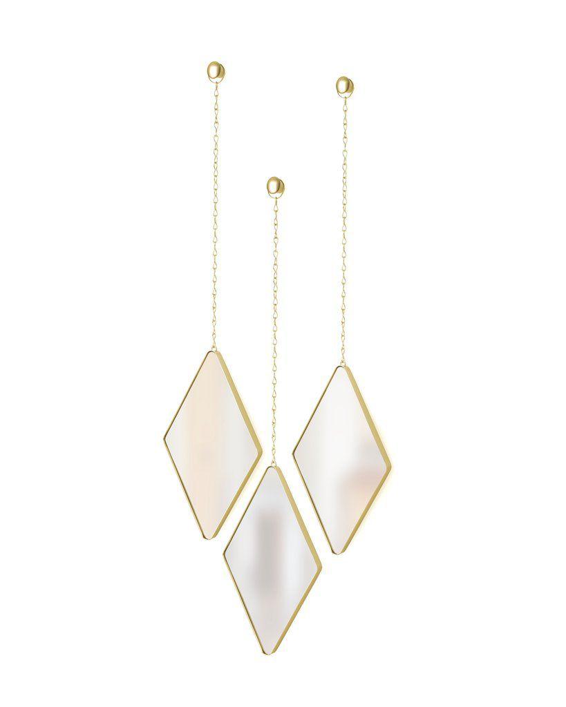 Espelho com Moldura Dima Fosco Dourado - Umbra