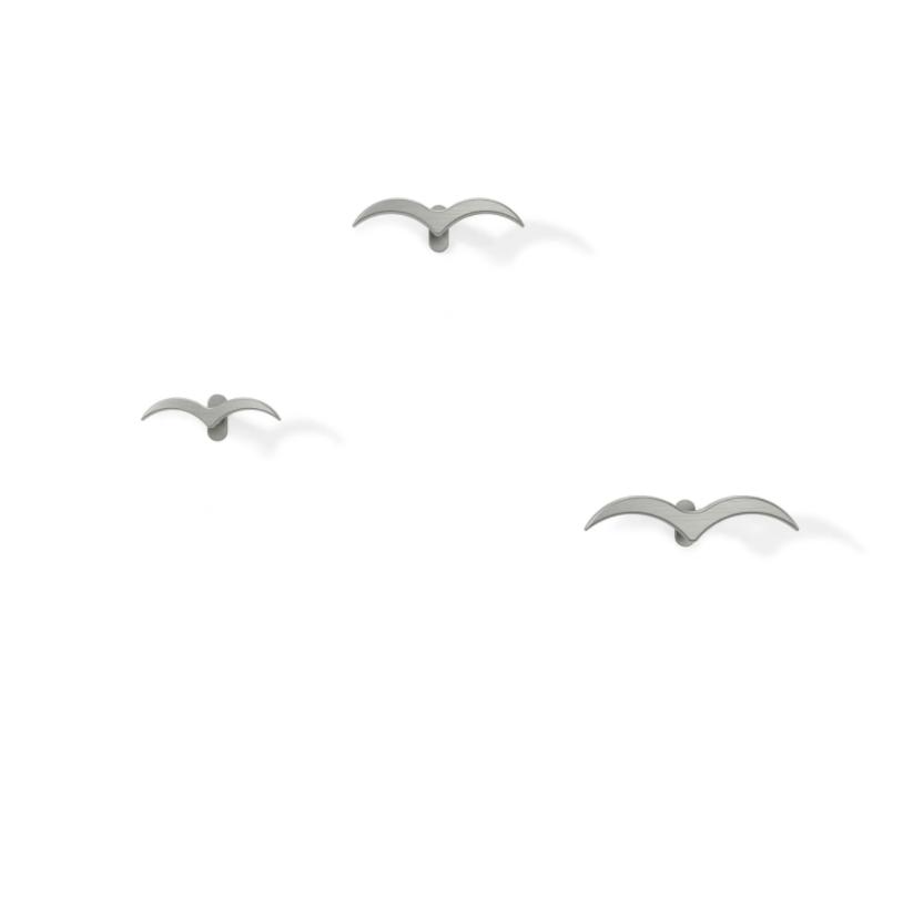 Ganchos de Parede Pássaro Níquel - Umbra
