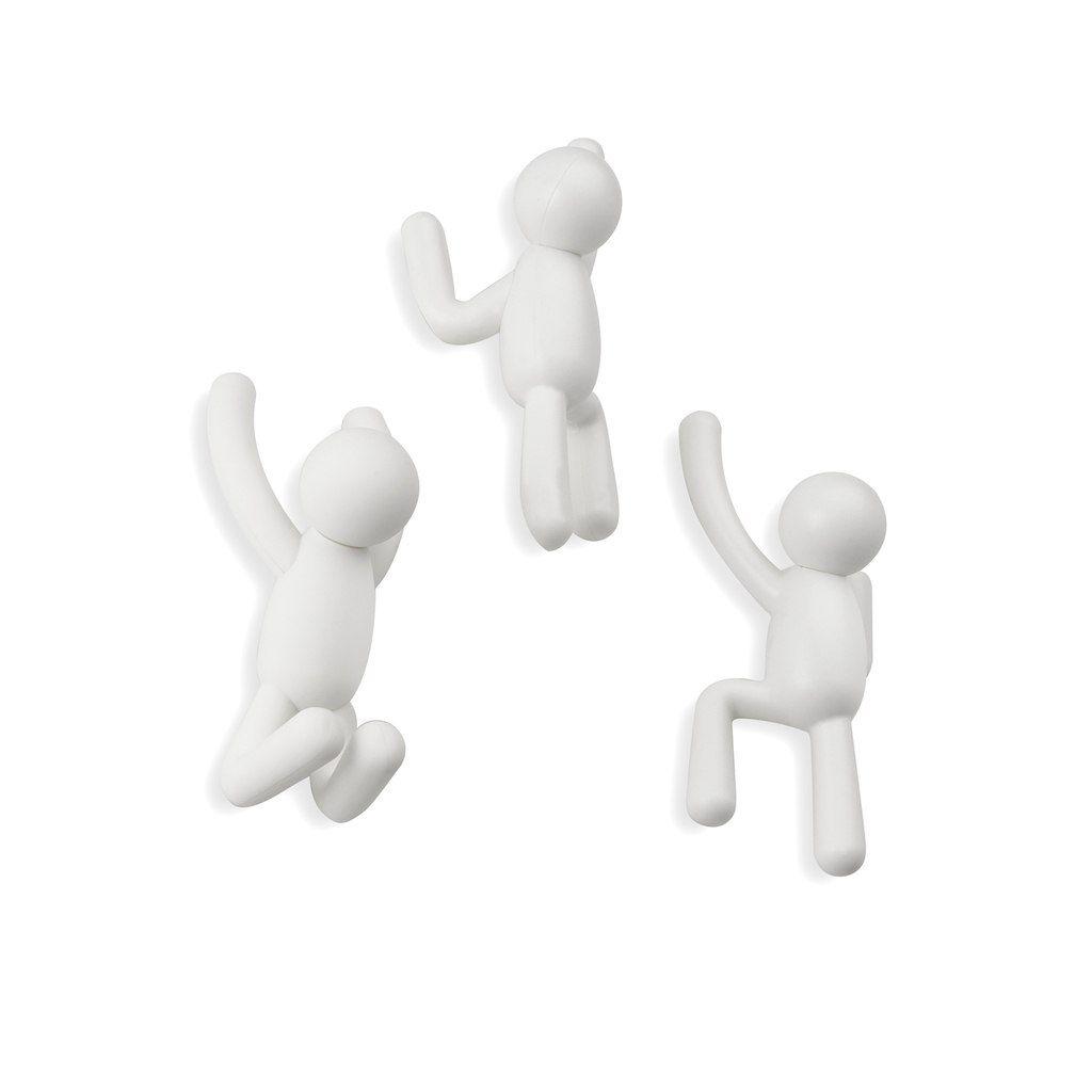 Ganchos de Parede BUDDY (3 un) Branco - Umbra