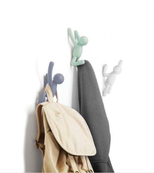 Ganchos de Parede BUDDY (3 un) - Colorido Umbra