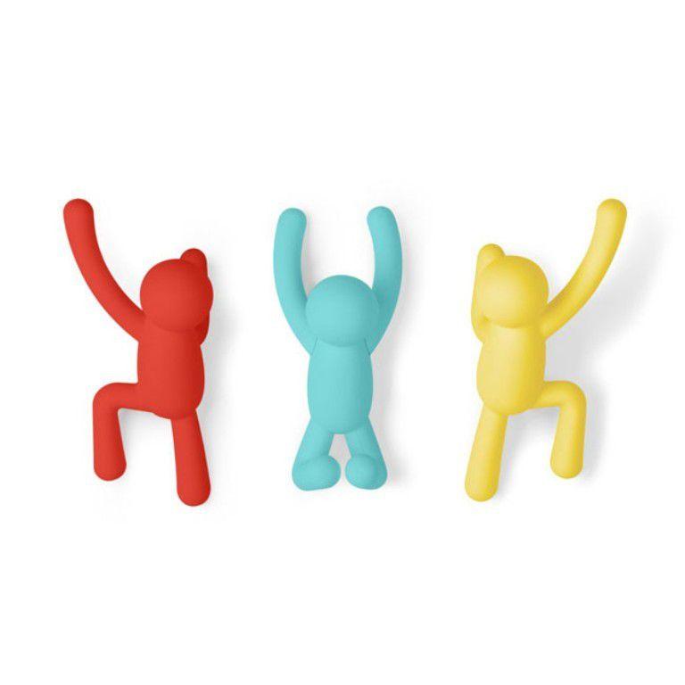 Ganchos de Parede Buddy (3 un) Colorido Primário - Umbra