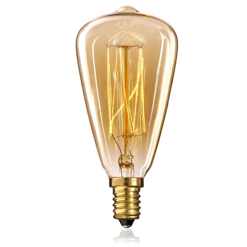 Lâmpada Retrô de filamento de carbono E14
