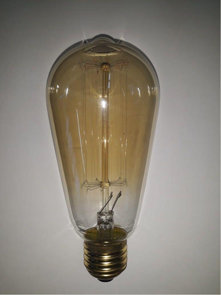 Lâmpada Retrô de filamento de carbono E27  - ST64